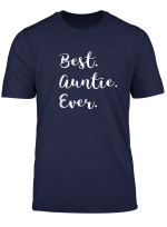 Best Auntie Ever T Shirt Family Love Aunty Tshirt Tee