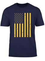 American Flag Honeycomb Honey Bee Hive Funny Beekeeper Gift T Shirt