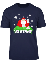 Let It Snow Cocaine Santa Claus Christmas Xmas Funny Saying T Shirt