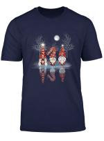Cool Three Nordic Gnomes Reflection Christmas Gnome Tomte T Shirt