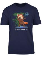 Red Panda Dabbing Isle Of Man Manx Funny Graphic Print T Shirt