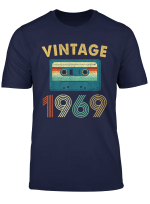 50Th Birthday Gift Vintage Mixtape 1969 50 Years Old T Shirt