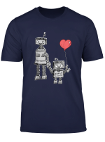 Robot Mom Son Walking Love Mothers Day T Shirt Gift 2019