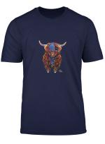 Mac T Shirt Mit Highland Kuh Aufdruck T Shirt