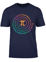 For Pi Day Pi Spiral Novelty Tee Shirt