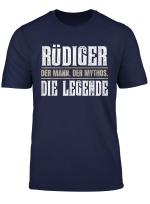 Vorname Rudiger T Shirt Geschenk Name Rudiger
