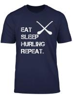 Boys Girls Eat Sleep Hurling Repeat Athlete Gift T Shirt