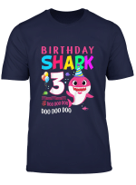 Kids Baby Shark 3 Years Old 3Rd Birthday Doo Doo T Shirt