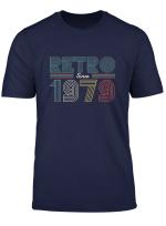 Retro Since 1979 40 Jahre Geschenk T Shirt