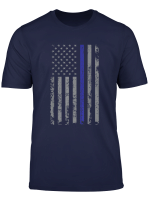 Thin Blue Line Usa Flag Patriotic Police Support Mens T Shirt
