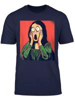 Cartoon Mona Lisa Funny Gift Men Women T Shirt