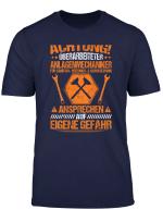 Herren Anlagenmechaniker T Shirt Uberarbeitet Klempner