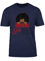 Gemini Girls T Shirt American Black Women May June Bday Tee