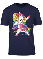 Dabbing Unicorn T Shirt Girls Kids Women Rainbow Unicorns