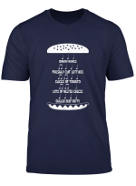 Music Food Burger Notes Patty Funny Christmas Gift T Shirt