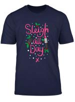 Christmas Slay Sleigh All Day Beauty Lipstick Make Up T Shirt