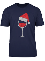 Glas Rotwein Mit Weihnachtsmutze Lustiges Wein Weihnachten T Shirt