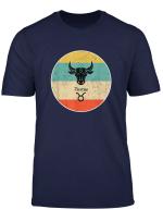 Stier Sternzeichen Retro Geschenk T Shirt