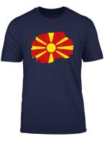 Mazedonien Karte Flagge T Shirt