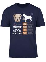 British Bulldog Dog Anatomy Mom Grandma Men Women Kids T Shirt