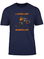 Supermoto Motorrad Motocross Legalize Wheelies Orange T Shirt