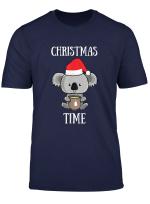 Christmas Koala Tea Time Santa Claus Koala Bear Pun Gift T Shirt