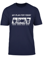 My Plan For Today Motorrad Shirt Herren Spass Geschenk Shirt