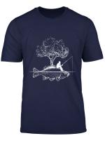 Fishing Fish Island Art Surreal Funny Carp Fisherman Gift T Shirt