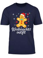 Weihnachtsoutfit Lebkuchenmann Lustiges Weihnachten Geschenk T Shirt
