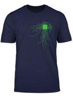 Cooles T Shirt Geek Cpu Schwarz Grosse