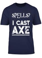 Rollenspiel T Shirt Krieger Barbar Klasse Rpg Dnd Axt Axe