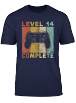 14 Geburtstag Jungen Shirt Gamer Tshirt Level 14 Complete T Shirt
