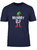 Womens Mommy Elf Matching Family Group Christmas T Shirt