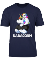 Dadacorn Unicorn Dad And Baby 4Th Of July Papa Gift Tshirt