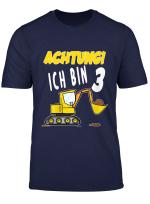 Kinder Ich Bin 3 Jahre Geburtstagsshirt Bagger Dritten Geburtstag T Shirt