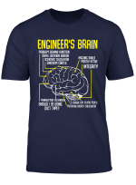 Engineer S Brain Funny Engineering Games Process T Shirt