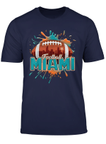 Miami Skyline Limited Edition Football Shirt Orange Aqua T Shirt