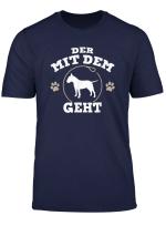 Der Mit Dem Bullterrier Geht Hunde Herrchen T Shirt