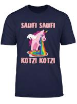 Saufi Saufi Kotzi Kotzi Einhorn Lustiges Party Partnerlook T Shirt