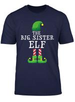 Big Sister Elf Matching Family Group Christmas Gift Pajama T Shirt