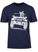 Siberian Husky Driving Jeep T Shirt Offroad Lovers Gift