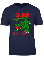 Valentines Day Aligator Shirt Boys Kids Heart Crusher