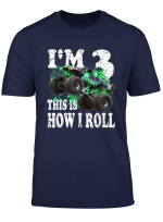 Im 3 This Is How I Roll 3 Years Old 3Rd Birthday Shirt