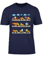 Youth Excavator T Shirt Boys Digger Construction Vehicles T Shirt