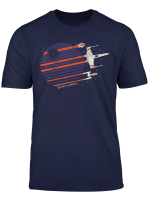Star Wars A X Y Wing Death Star Flyby Graphic T Shirt