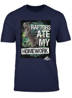 Jurassic World Raptors Ate My Homework T Shirt