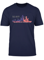 U S Navy American Flag T Shirt Gift Father Day