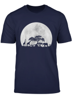 Giraffe Baby Elephant Moon Safari Animal Christmas Gift Idea T Shirt
