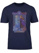 Disney Frozen 2 Elsa Anna Split Geometric Poster T Shirt