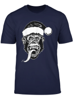 Gas Monkey Garage Santa Hat Christmas Logo T Shirt